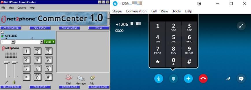Net2Phone and Skype