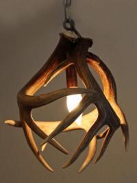 Unique antler chandeliers in Northwest Montana