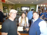 Chip and Gary enjoy a visit to the Mozzocco Winery.