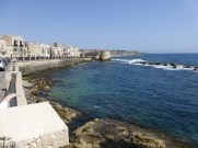 The fortified shore at Ortigia.