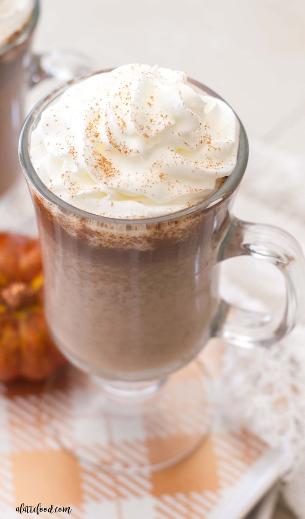 Pumpkin Hot Chocolate Recipe Uses Real Pumpkin Puree and Pumpkin ...