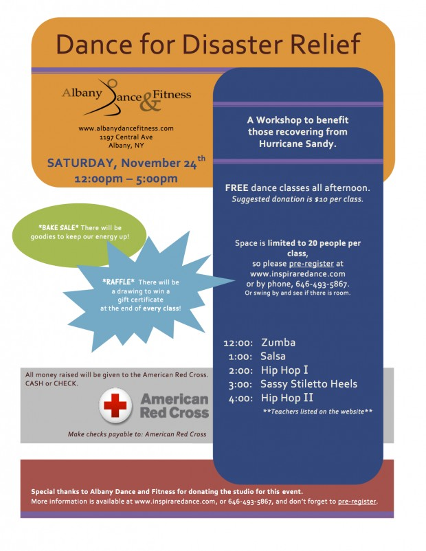 Dance for Disaster Relief - disaster relief flyer