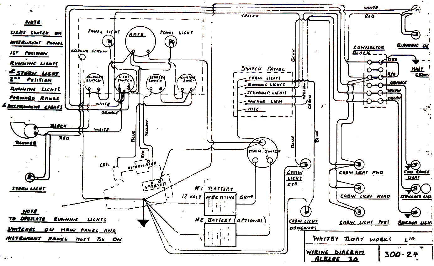 chris craft electrical diagram