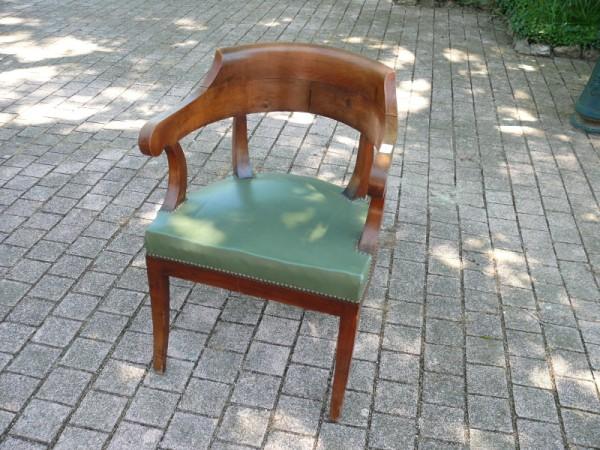 Fauteuil de bureau d poque restauration albert antiquit - Fauteuil de bureau ancien ...