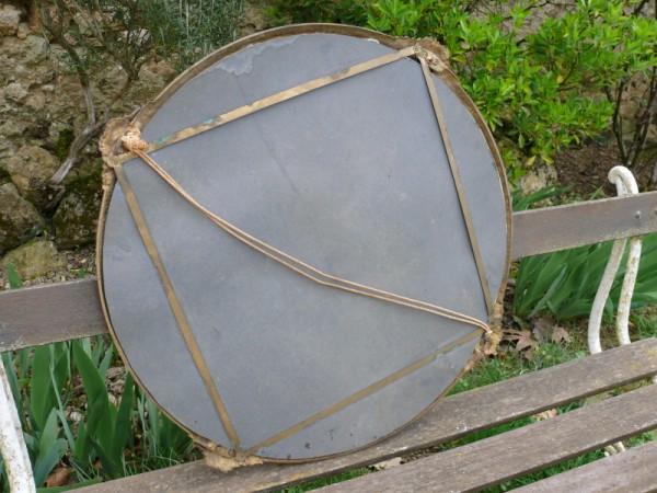 miroir rond encadrement laiton objet de d co albert antiquit. Black Bedroom Furniture Sets. Home Design Ideas