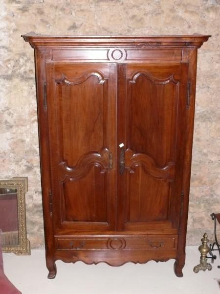 Armoire louis xv en noyer 2 portes albert antiquit for Albert tremblay meuble