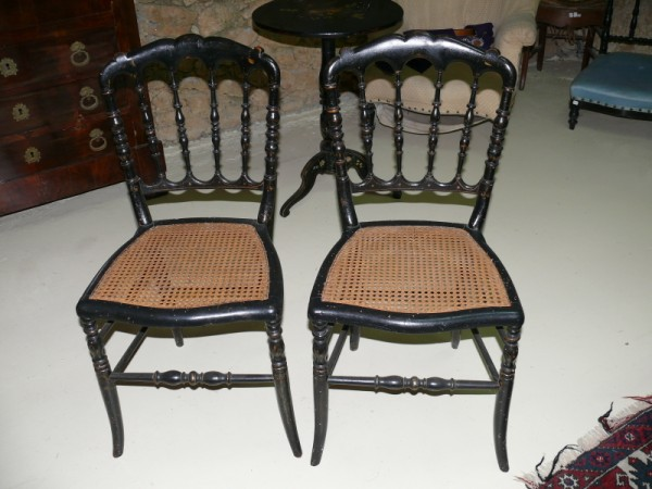 Chaises napol on iii assises cannage d 39 origine albert for Style chaises anciennes