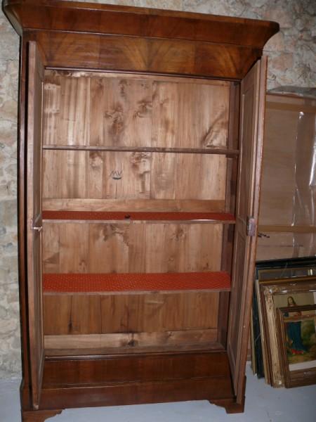 Armoire louis philippe en noyer albert antiquit for Albert tremblay meuble