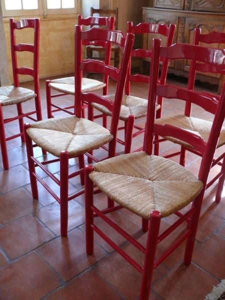 chaises peintes assises paill es albert antiquit. Black Bedroom Furniture Sets. Home Design Ideas