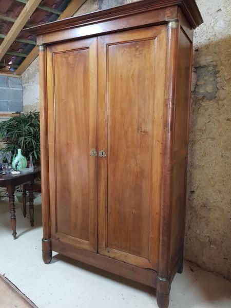 petite armoire empire en cerisier albert antiquit. Black Bedroom Furniture Sets. Home Design Ideas