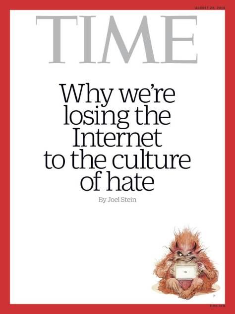 La copertina del Time su internet e i troll