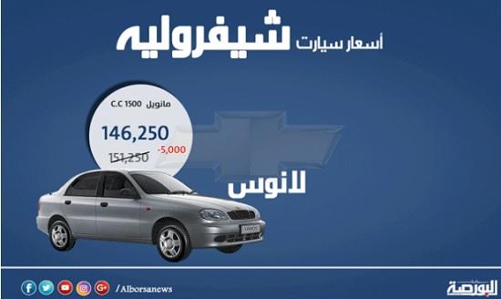 إنفوجراف.. أسعار سيارات شيفرولية لشهر أبريل - جريدة البورصة