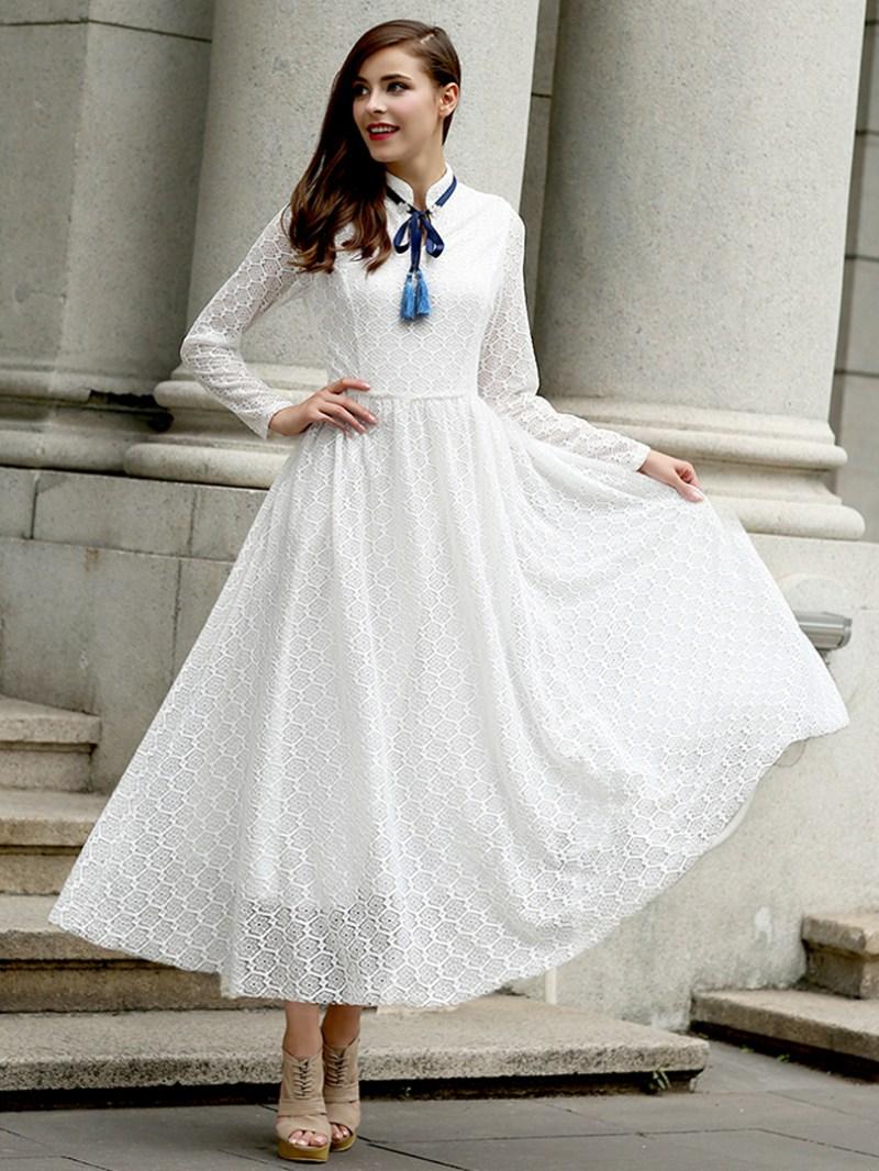 Large Of Long Sleeve White Dress