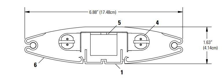Lightolier F7000-24 Lensed Pendant Fixture 2-Light T5
