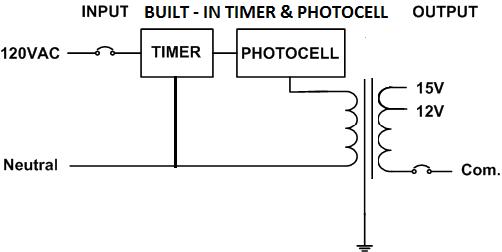 photocell installation wiring diagram