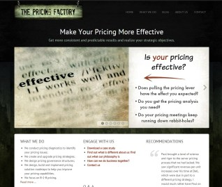 The Pricing Factory Website