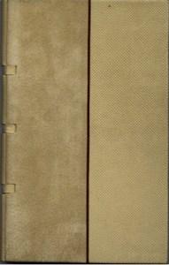 J. P. Michel – Extraits - D. Lomré Legatura con cuciture a vista, dorso  in pelle goffrata, piatti in pelle scamosciata e pelle goffrata, filetto di separazione in legno, guardie bicolori pelle scamosciatsa