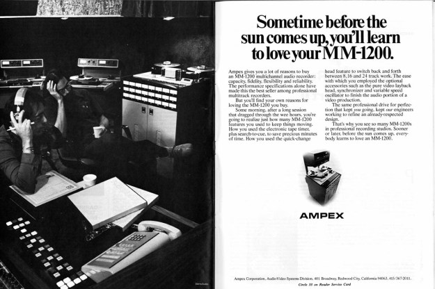 An old Ampex advertisement
