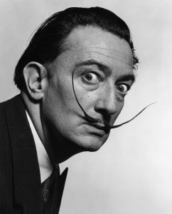 Ballerinas often spoke of the desire to create an arabesque with the same graceful curve as Dali's moustache