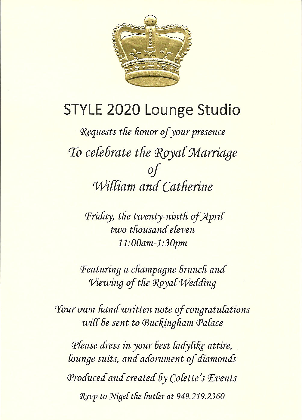 attachment id royal wedding invitation I was so excited to receive this invitation it was the perfect way to view