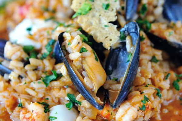 Seafood risottto