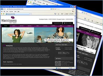 Harrisons Hair Team Website