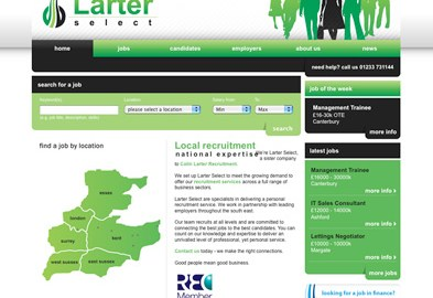 Colin Larter Recruitment website
