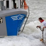 Anchoring the catch, Hythe Bay