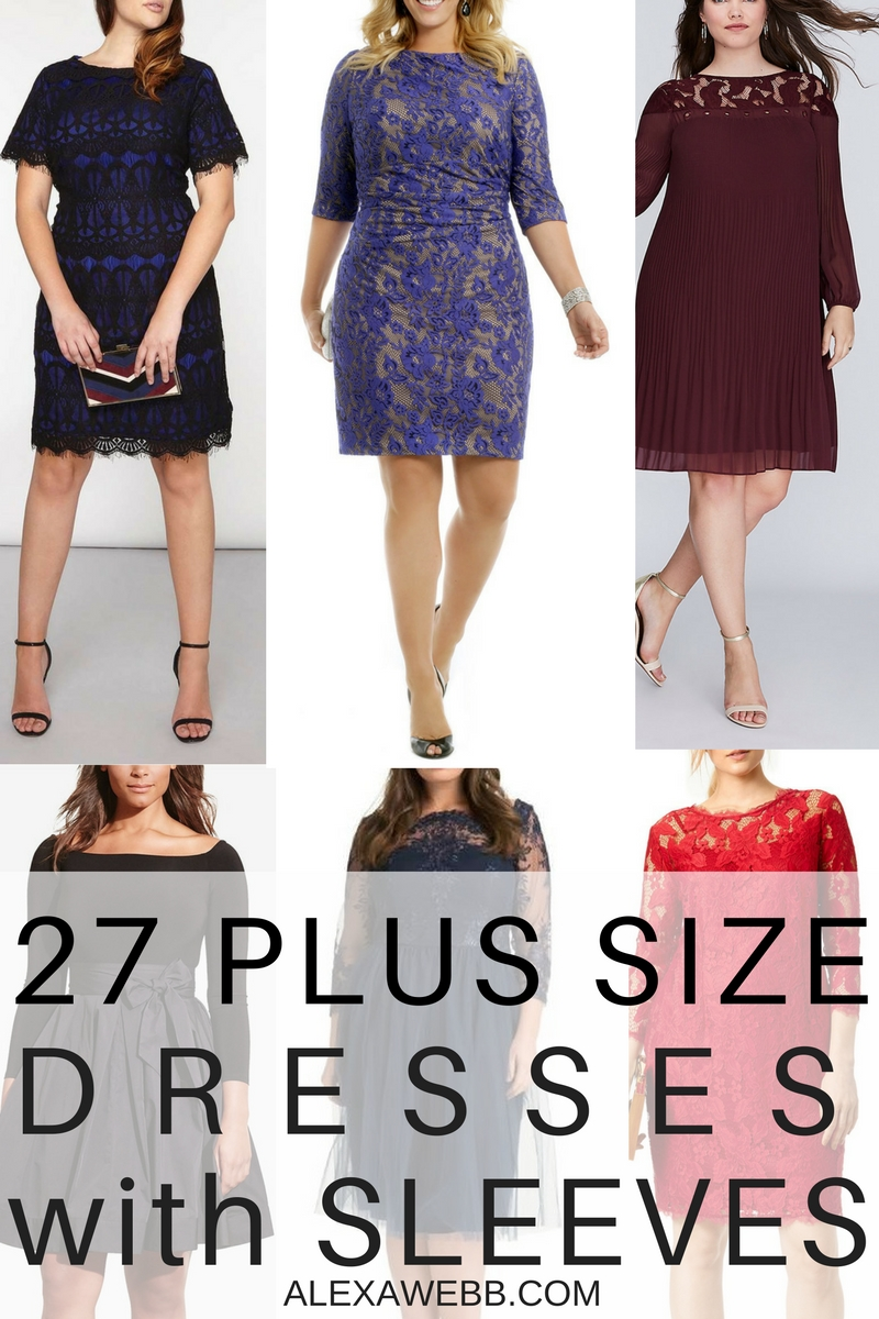 27 Plus Size Wedding Guest Dresses {with Sleeves}
