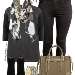 Plus Size Fall Black Jeans Outfit - Plus Size Fashion for Women - alexawebb.com #alexawebb