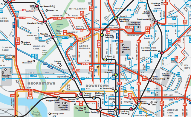 Metro highlights frequency in new bus map City Block