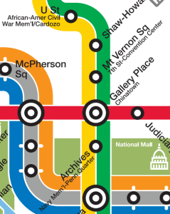 "WMATA map with long station names: ""they're not station names, they're committee meeting minutes."""