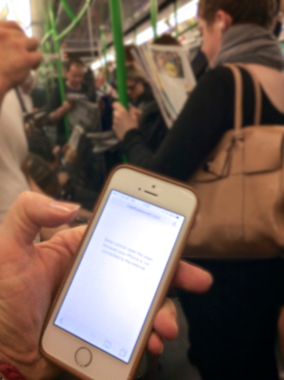 On the London Underground, iPhone without signal