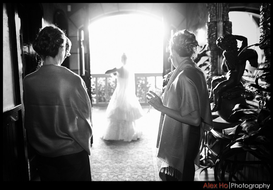 bride ready V. Sattui Winery Wedding in Saint Helena