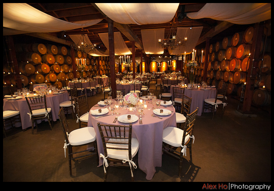 decor V. Sattui Winery Wedding in Saint Helena