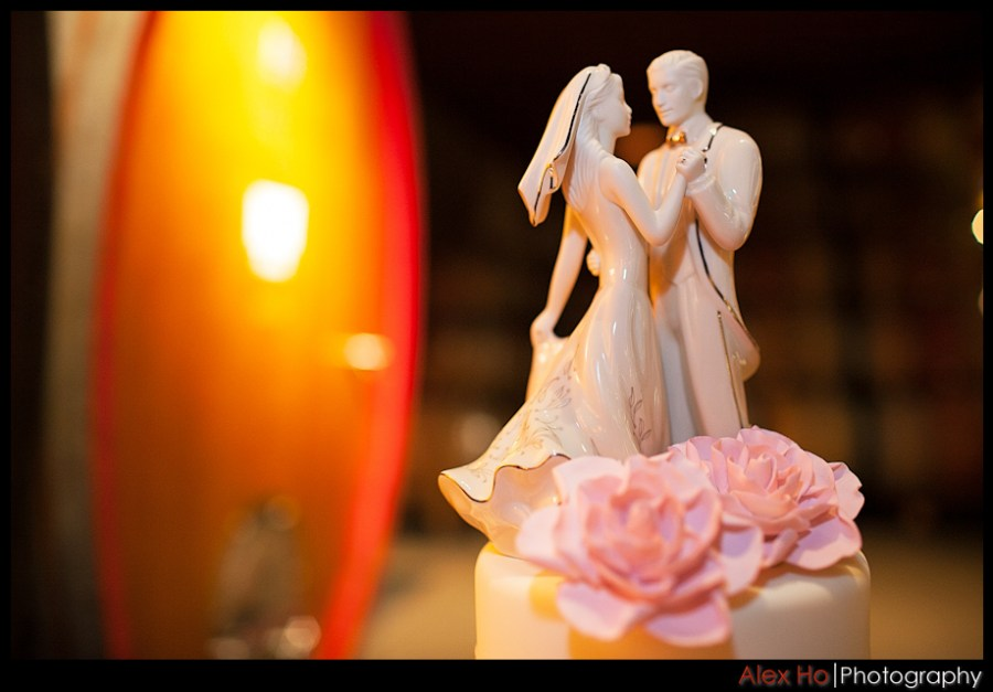 porcelain wedding cake topper V. Sattui Winery Wedding in Saint Helena