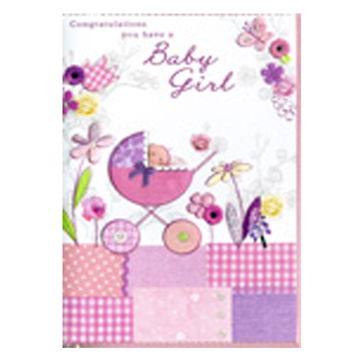 Congratulations you have a baby girl Card