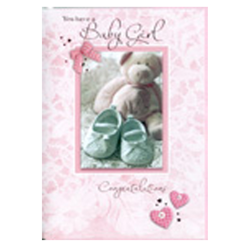 You Have A Baby Girl Congratulations Card - baby girl congratulations card