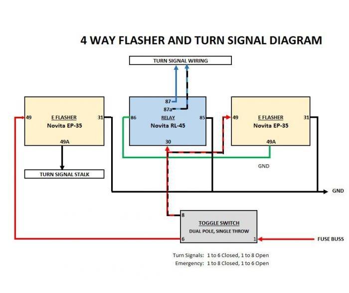4 Way Flasher Wiring Diagram Wiring Diagram