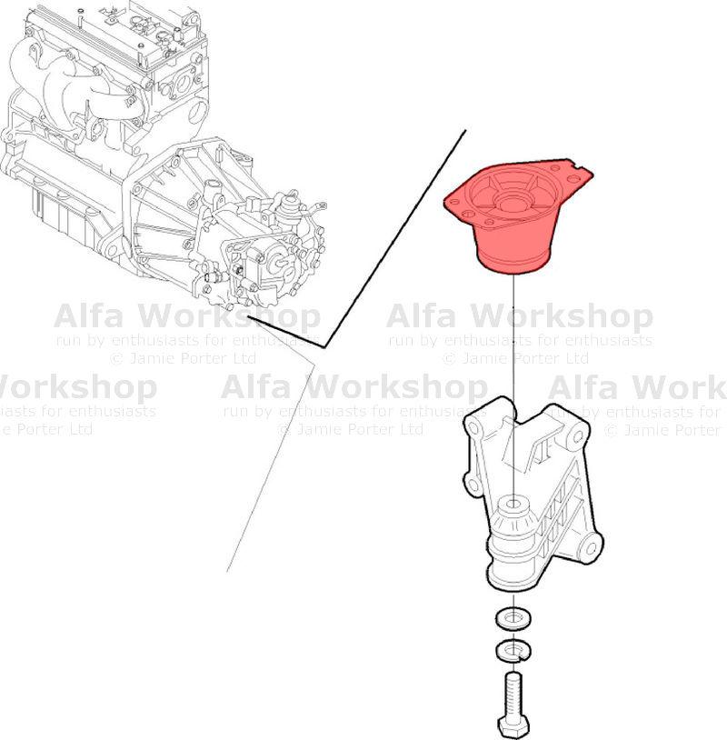 Alfa Romeo GTV Engine mount