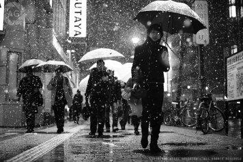 Shibuya in the snow