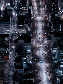 Tokyo cityscapes at night with H4D-40
