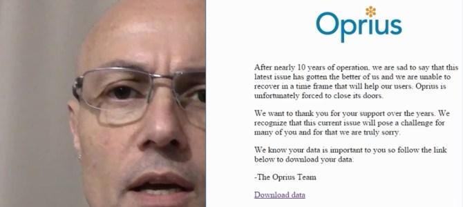 ARN2 – OPRIUS, software de CRM encerra as portas e abandona os clientes