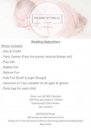 Babysitting Co for your Algarve Wedding - Algarve Wedding Directory - babysitting pass