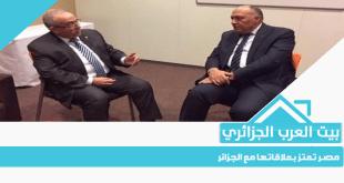 مصر تعتز بعلاقاتها مع الجزائر