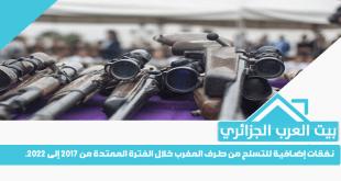 نفقات إضافية للتسلح من طرف المغرب خلال الفترة الممتدة من 2017 إلى 2022.