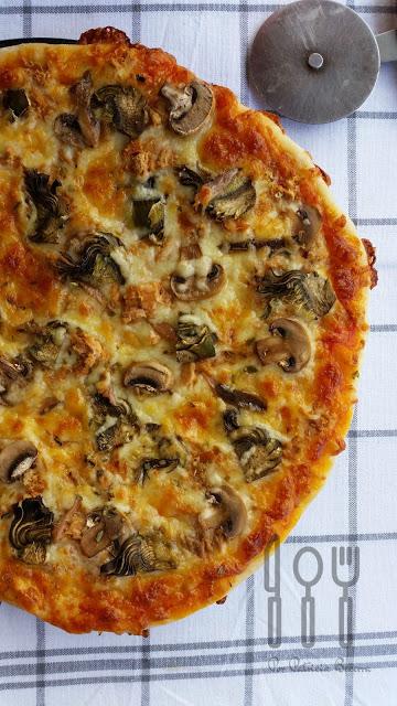 Pizza sin amasado de Yban Yarza