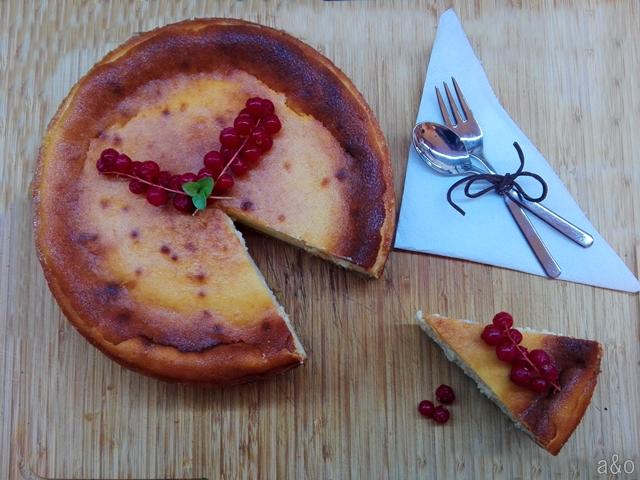 Tarta de queso al horno o cheesecake