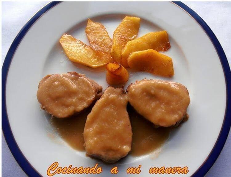 Solomillo de cerdo en salsa de manzana