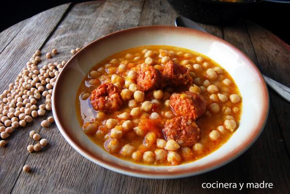 garbanzos con chorizo - cocinera y madre
